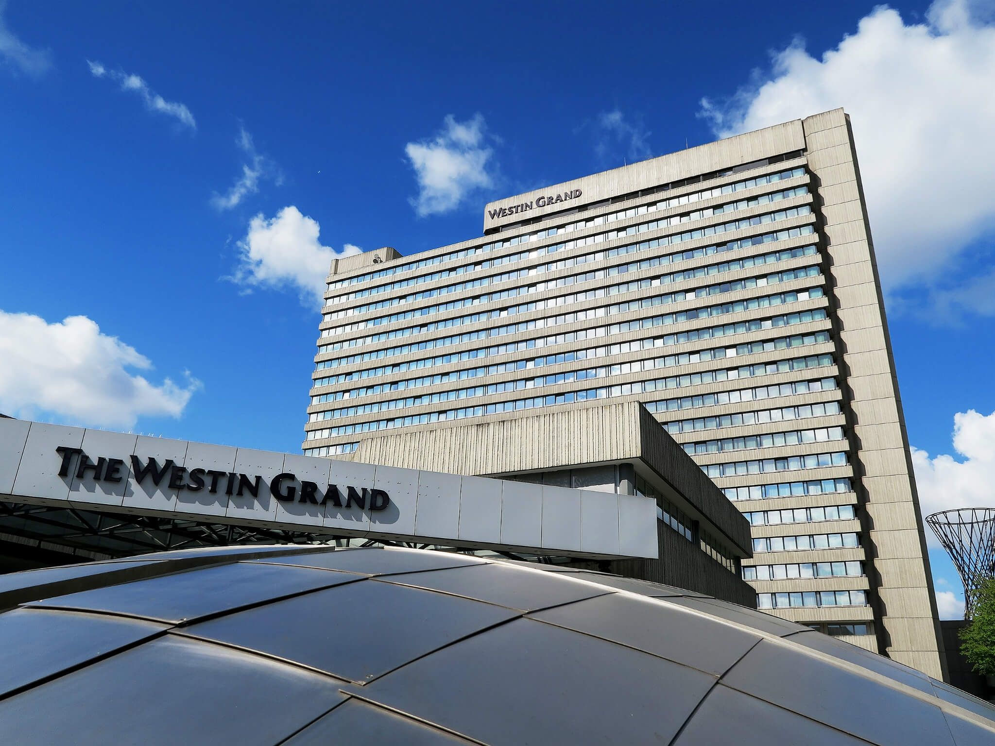Entrance of The Westin Grand Hotel Bogenhausen in Munich